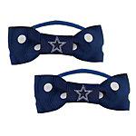 Dallas Cowboys Bow Pigtail Holders