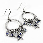 Dallas Cowboys Hoop Earrings with Charms