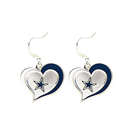 Dallas Cowboys Heart and Star Earrings