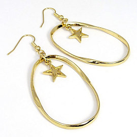 Dallas Cowboys Gold Twist Loop Earrings