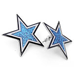Dallas Cowboys Large Glitter Star Post Earrings