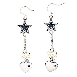 Dallas Cowboys Gold Ribbon Dangler Earrings