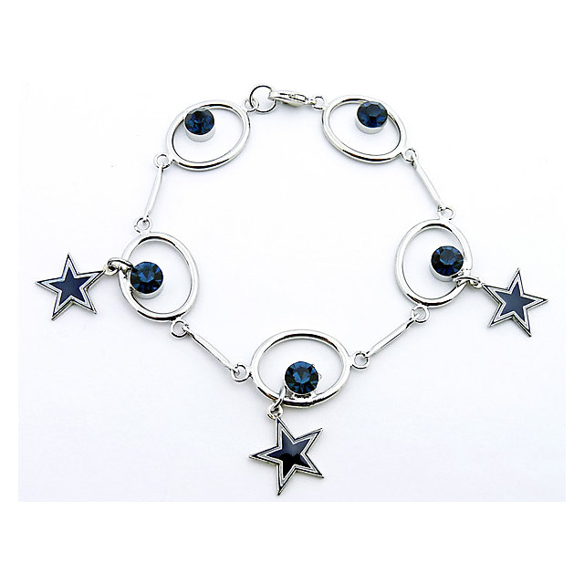 Dallas Cowboys Blue Star and Crystal Bracelet