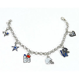 Dallas Cowboys 6 Charm Bracelet