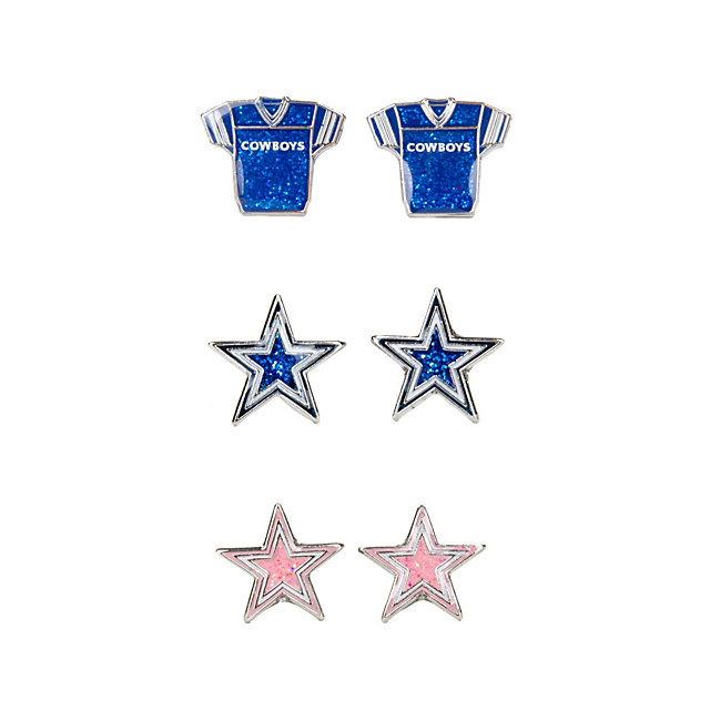 Dallas Cowboys Glitter Earring 3-Pack