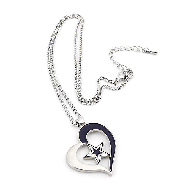 Dallas Cowboys Heart and Star Necklace