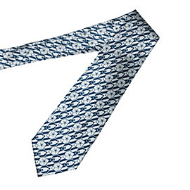 Dallas Cowboys Nexus Print Silk Necktie