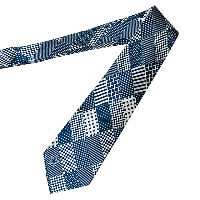 Dallas Cowboys Patchwork Print Silk Necktie
