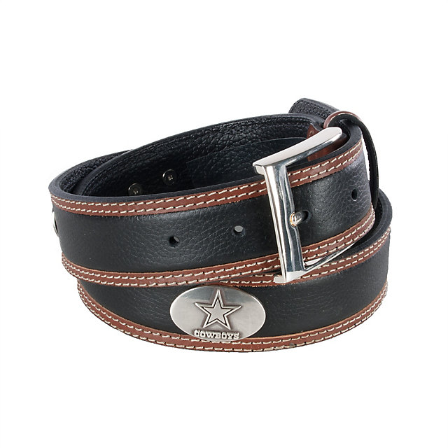Dallas Cowboys Mens Two Tone Leather Belt