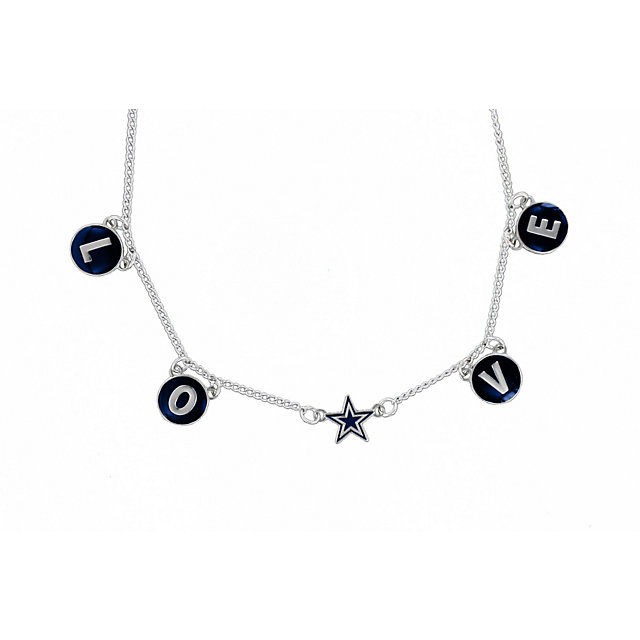 Dallas Cowboys Enamel Love Necklace with Star