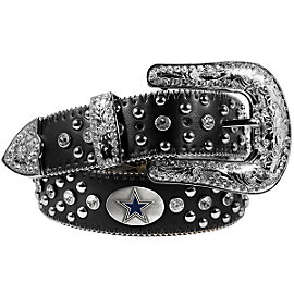 Dallas Cowboys Rhinestone Studded Belt - Black