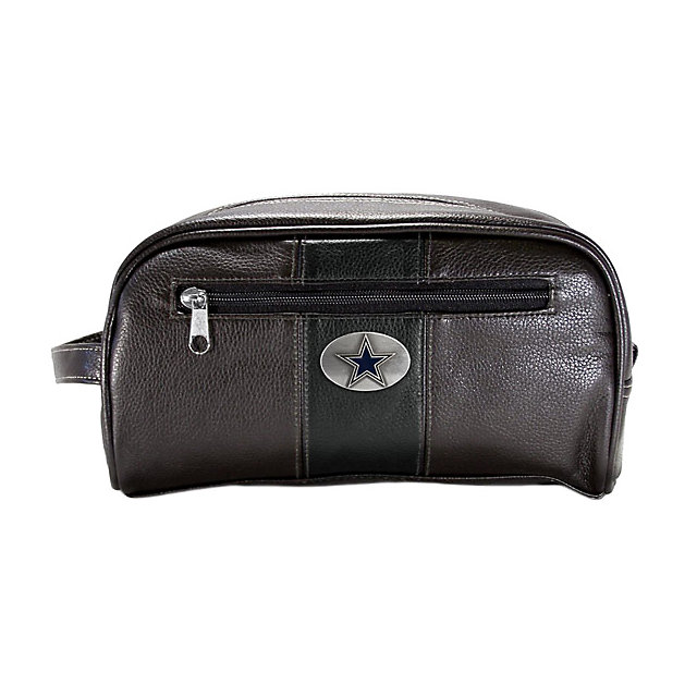 Dallas Cowboys Brown and Black Dopp Kit