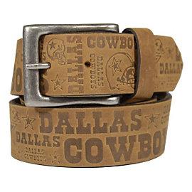 Dallas Cowboys Mens Embossed Slogan Belt