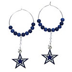 Dallas Cowboys Beaded Hoop Earrings