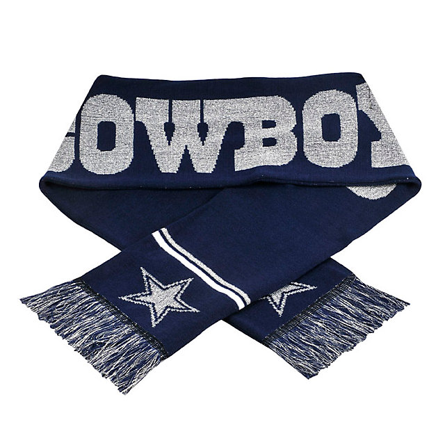 Dallas Cowboys Metallic Thread Scarf