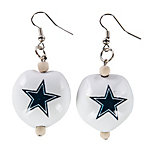 Dallas Cowboys Kukui Nut Earrings