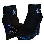 Dallas Cowboys Cuce The Rookie Crystal Wedge Shoe