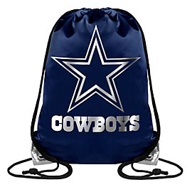 Dallas Cowboys Metallic Big Logo Drawstring Backpack