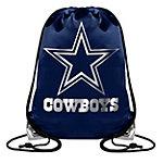 Dallas Cowboys Metallic Big Logo Drawstring Backpack