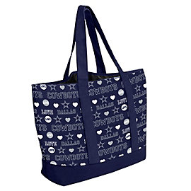 Dallas Cowboys Love Print Tote