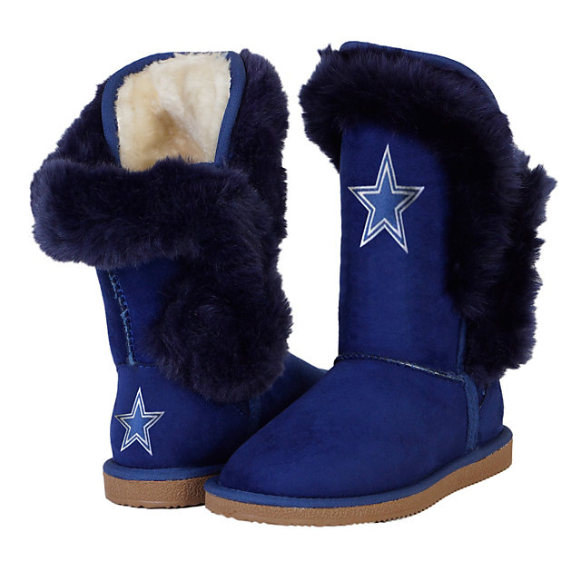 Dallas Cowboys Cuce Champions Navy Fur Boot