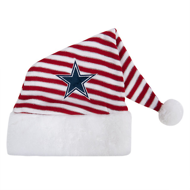 Dallas Cowboys Striped Santa Hat