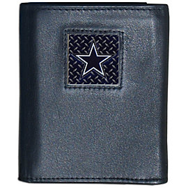 Dallas Cowboys Gridiron Leather Trifold Wallet