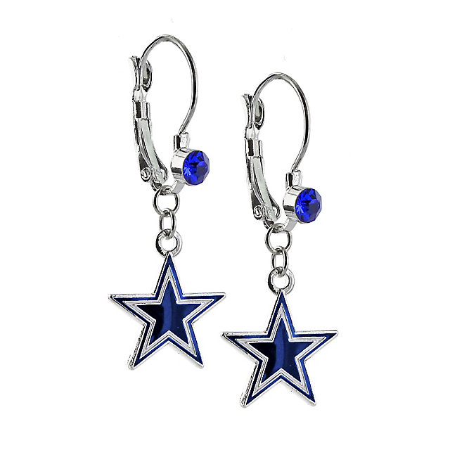 Dallas Cowboys Oval Star Dangler Earrings