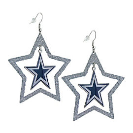 Dallas Cowboys Oversized Floating Star Earrings
