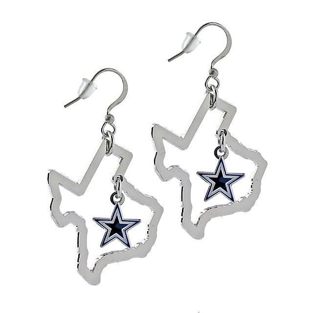 Dallas Cowboys State of Texas Floating Star Earrings