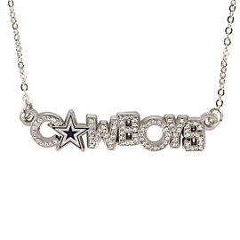 Dallas Cowboys Rhinestone Wordmark Necklace