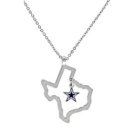 Dallas Cowboys State of Texas Star Necklace