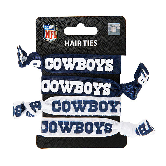 Dallas Cowboys 4-Pack Elastic Hair Ties