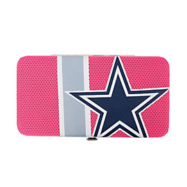 Dallas Cowboys Pink Stripe Shell Wallet