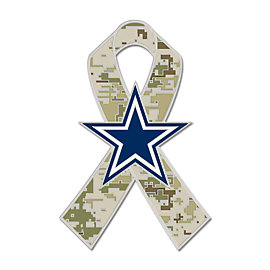 Dallas Cowboys Camo Military Ribbon Lapel Pin