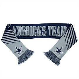 Dallas Cowboys America's Team Slogan Scarf