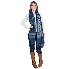 Dallas Cowboys Plaid Pashmina Scarf