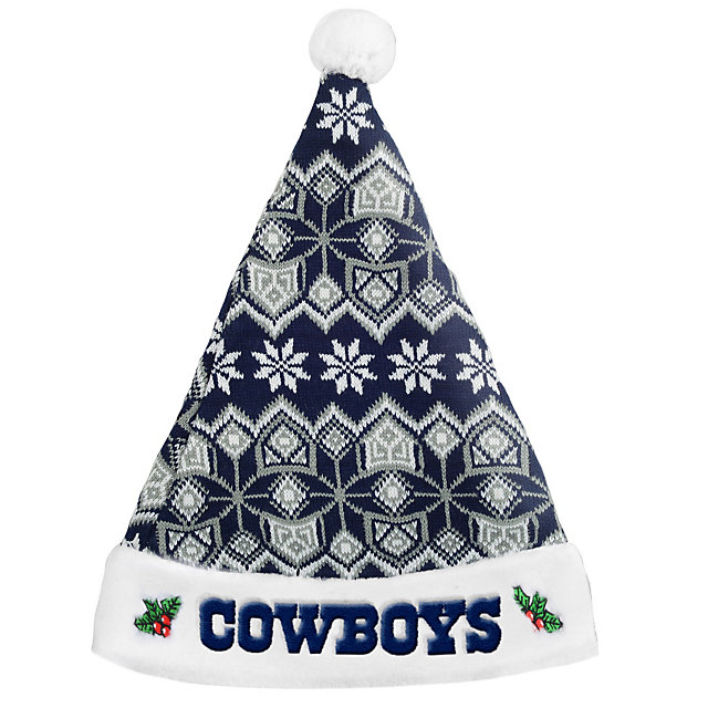Dallas Cowboys Knit Santa Hat