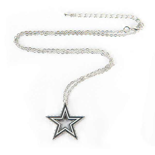 Dallas Cowboys Open Star Necklace