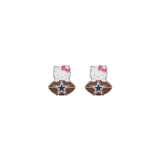 Dallas Cowboys Hello Kitty Post Logo Earrings
