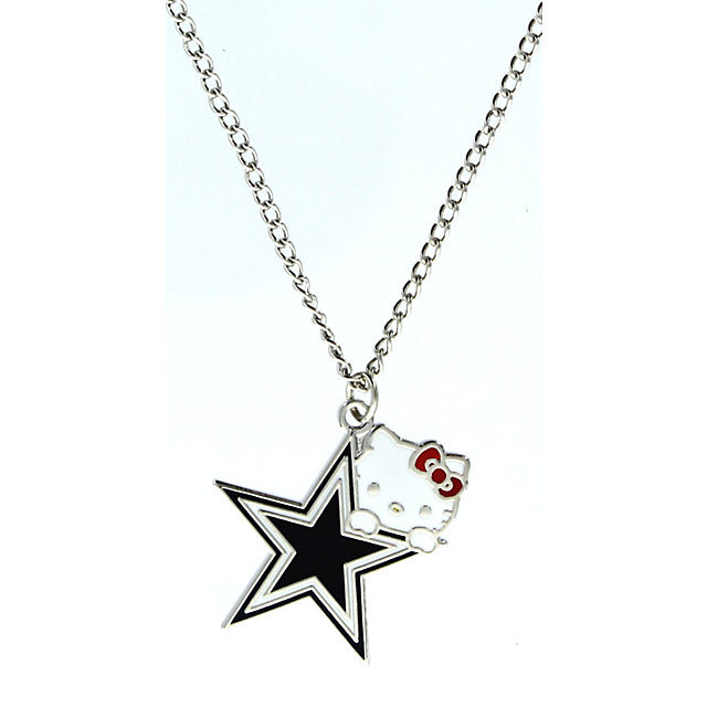 Dallas Cowboys Hello Kitty Logo Necklace