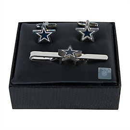 Dallas Cowboys Cut-Off Cuff Links and Tie Bar Set