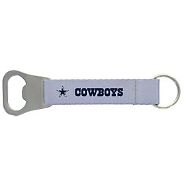 Dallas Cowboys Silver Bottle Opener Lanyard Keyring
