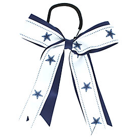 Dallas Cowboys Bow Ponytail Holder