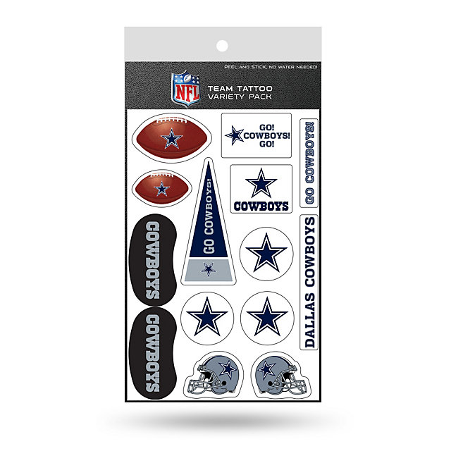Dallas Cowboys Tattoo Variety Pack