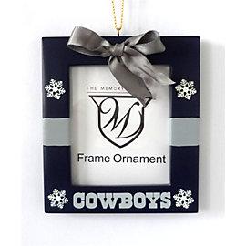 Dallas Cowboys Present Frame Ornament
