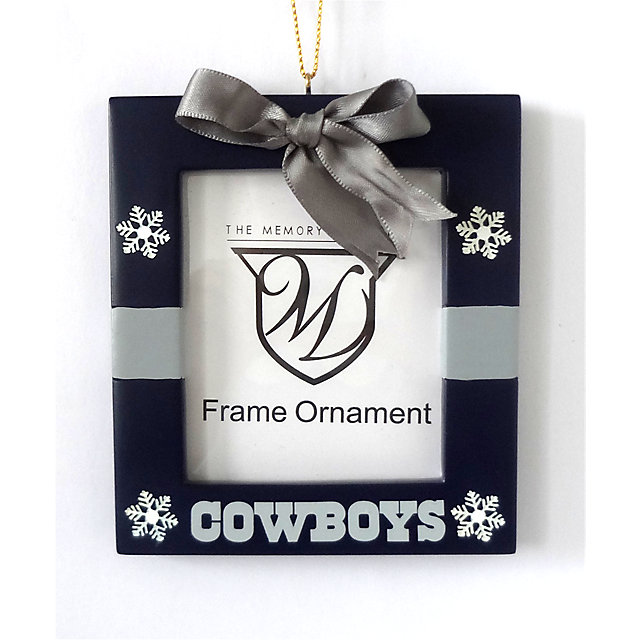 Dallas Cowboys Present Frame Ornament