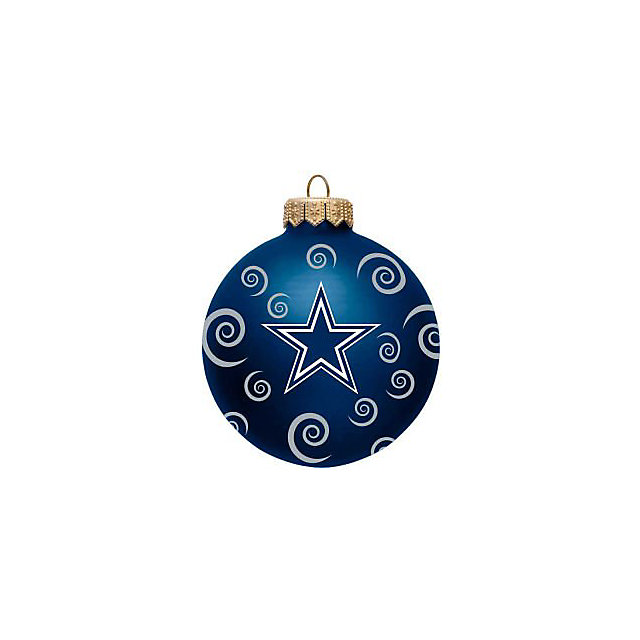 "Dallas Cowboys 3"" Swirl Ball Ornament"