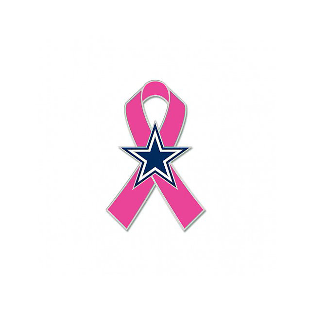 Dallas Cowboys Breast Cancer Awareness Lapel Pin