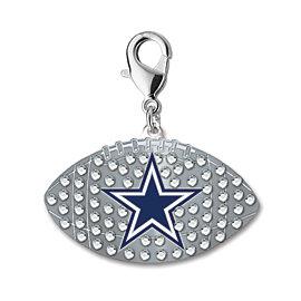 Dallas Cowboys Rhinestone Football Charm